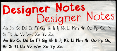 Designer Notes Font
