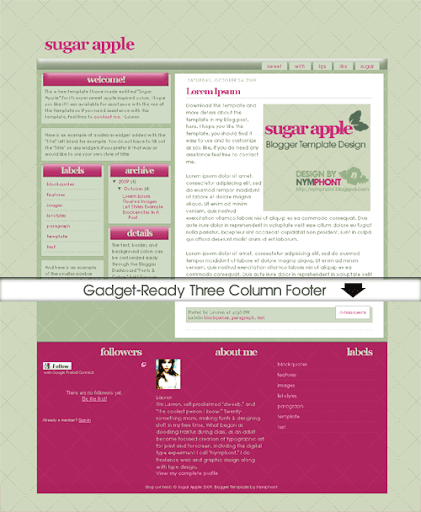 Free Blogger Template: Sugar Apple