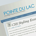 Free Blogger Template: Pointe du Lac