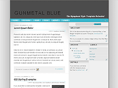 Gunmetal Blue Template