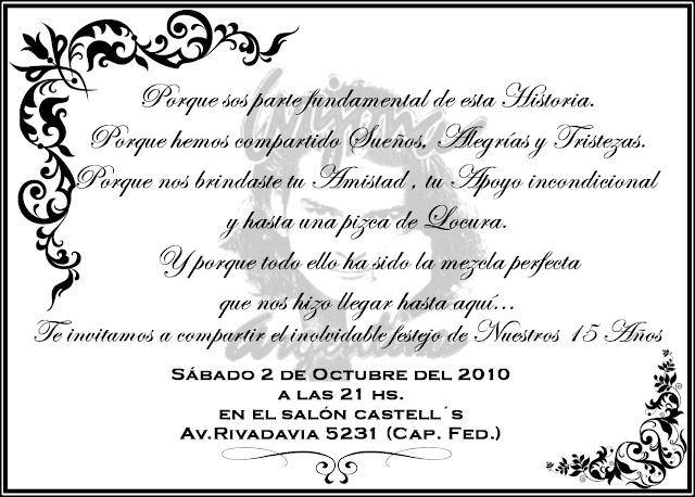 La invitación... Tarjeta