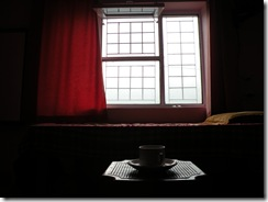 A room with a window