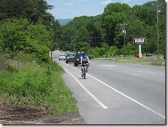 Zeke and the bike lane - Clifton Forge, VA