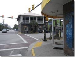 Main traffic light on Folly Beach