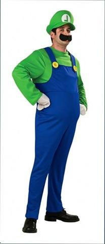 disfraz de hermano luigi de Super Mario bos