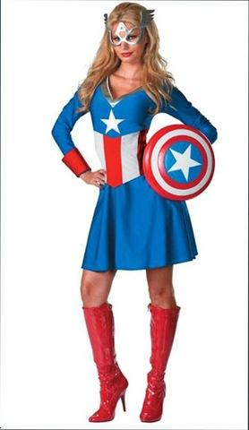 disfraz de capitan america adulto mujer