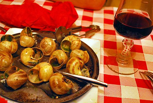 Escargot & wine dinner