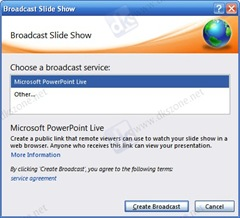 choose broadcast service