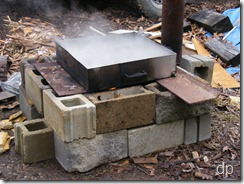 fireplace for boiling sap