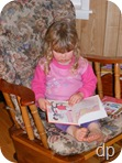 Naomi reading at Mammaw's House