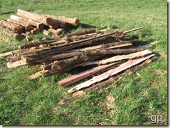 slab pile and remaining logs