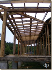 purlins on the front porch