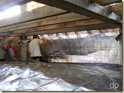 radiant barrier insulation in the crawlspace