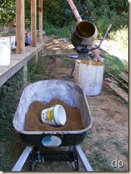 clay slip making setup