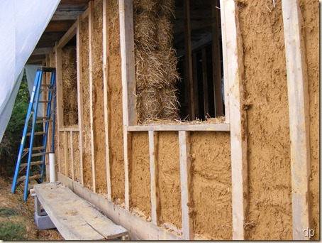 Plastered straw bales