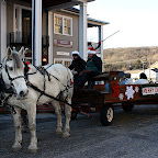 Free sleigh rides give visitors a unique tour option through the town