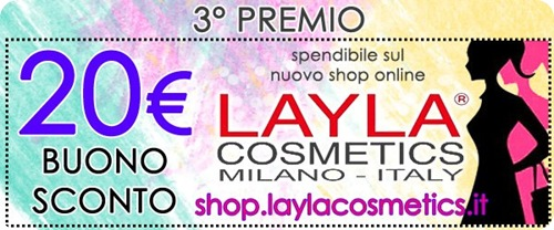 Giveaway-Layla-Cosmetics-buono-sconto-shop-online-20-euro
