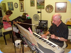 Carole Littlejohn and PeterBrophy enjoying a duet session
