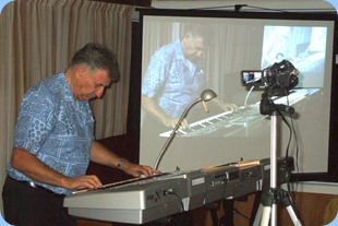 John Bercich playing his Korg Pa1X to wind a great evening up for us. Great music John.