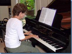 Denise Gunson stretching-out on the wonderful Yamaha grand piano