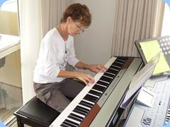 Denise Gunson playing Peter Brophy's Korg SP250 digital piano