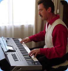 Peter Littlejohn putting the new Korg Pa3X arranger keyboard through its paces