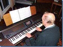 Colin Crann playing the Club's Clavinova CVP-509
