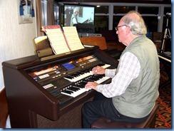 George Watt playing the Club's Technics GA3 organ