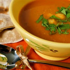 Spicy Chickpea Soup And Coriander Chapatti