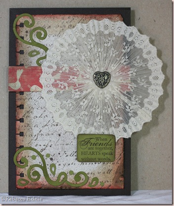 fanfold lace circle card