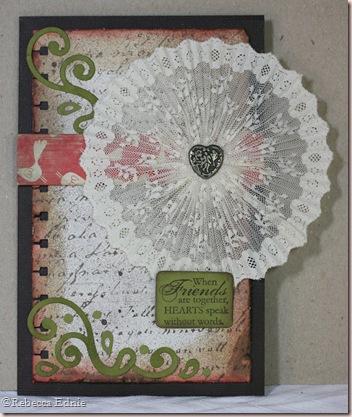 fanfold lace circle card