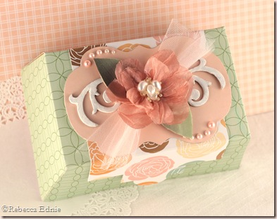 ribbon flower gift box
