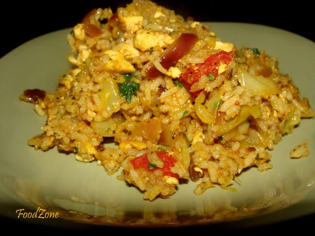 Tofu Cababage Rice