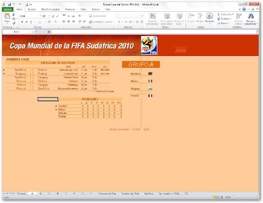 Fixtures del Mundial Sudafrica 2010