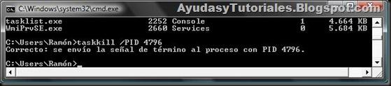DOS - TaskKill x PID Correcto - AyudasyTutoriales