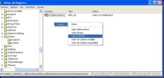 Editor de Registro - System - AyudasyTutoriales