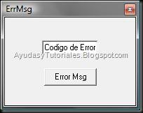 ErrMsg - AyudasyTutoriales