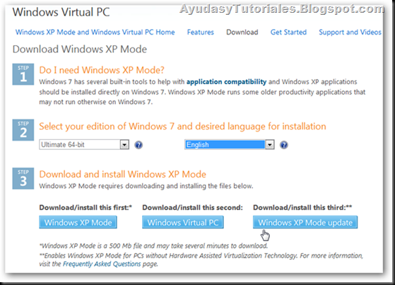 Windows Virtual PC - AyudasyTutoriales