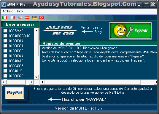 MSN E-FIX - AyudasyTutoriales