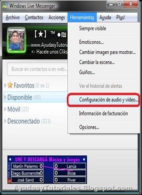 Configuracion Fake WebCam - MSN