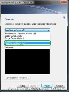 Configuracion Fake WebCam - Video MSN