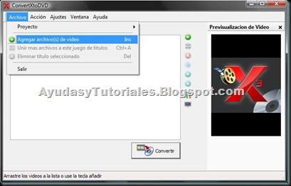 ConvertXtoDVD - Agregar Archivos de Video