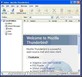 Thunderbird Portable - AyudasyTutoriales