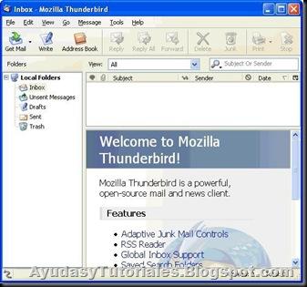 Thunderbird Portable - AyudasyTutoriales