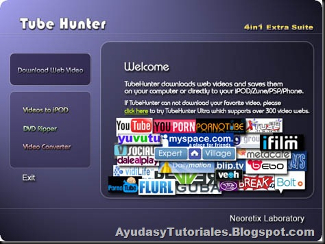 Tube Hunter - AyudasyTutoriales