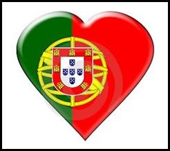 Coração bandeira de Portugal