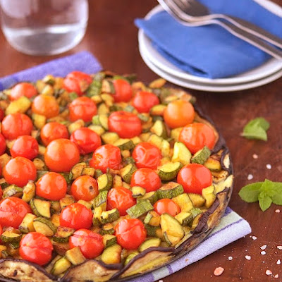 Crustless Veggie Tart                                                                                           Print this recipe!