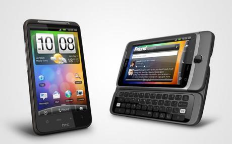 HTC Desire HD and HTC Desire Z