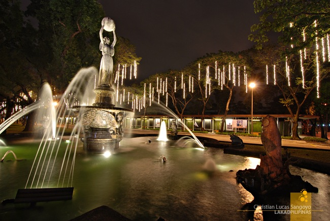 The Fountain at the front right of the University