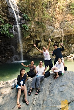 Group Hug at Agbalala Waterfalls